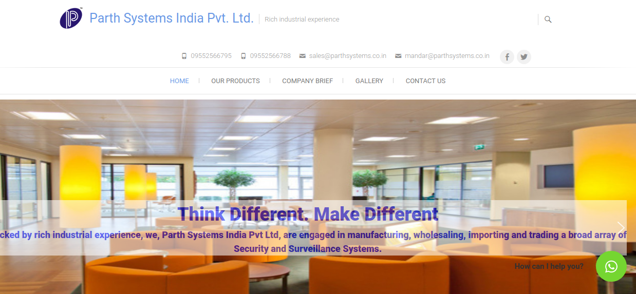 ParthSystems.co.in home page