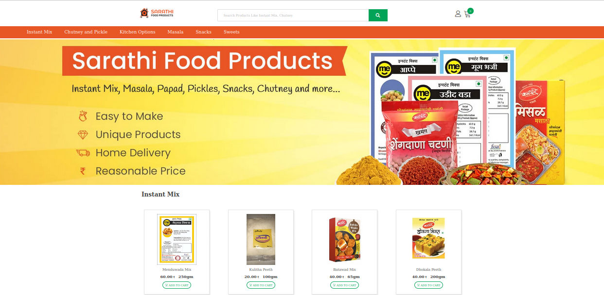 New design of Sarathi Food Products